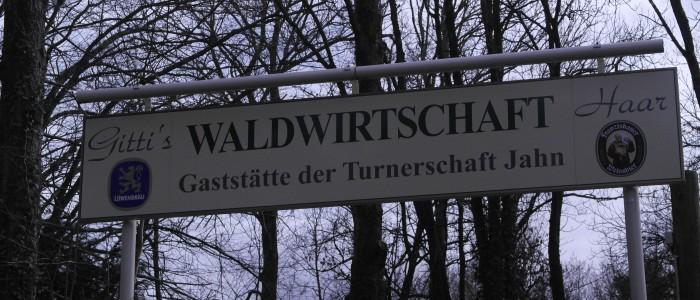 Schild - Gitti's - Waldwirtschaft