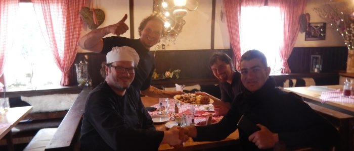 Mittagstish in bayrischer Bierstube