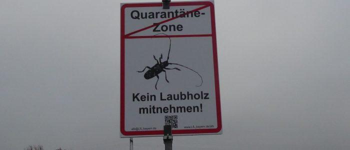 Strassenschild-ALB-Quarantänezone