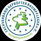 Logo mit Baum, Fachverband geprüfter Baumpfleger